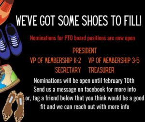 PTO Board Positions are now Open for Rooney PTO