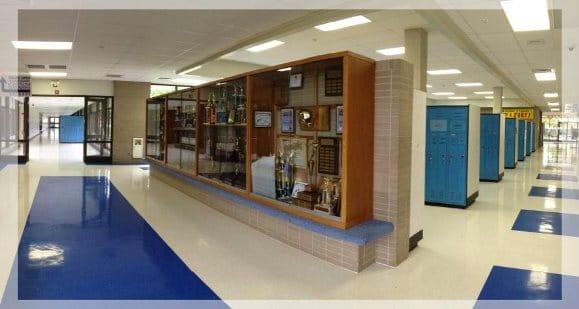 Quincy Senior High School hallway