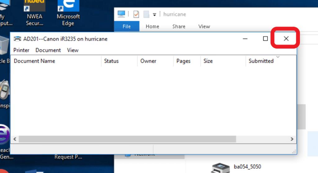 print-queue-window