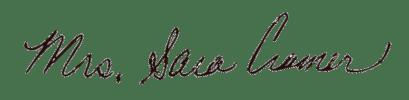 sara cramer signature