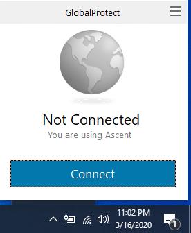 screenshot Globalprotect system toast screen