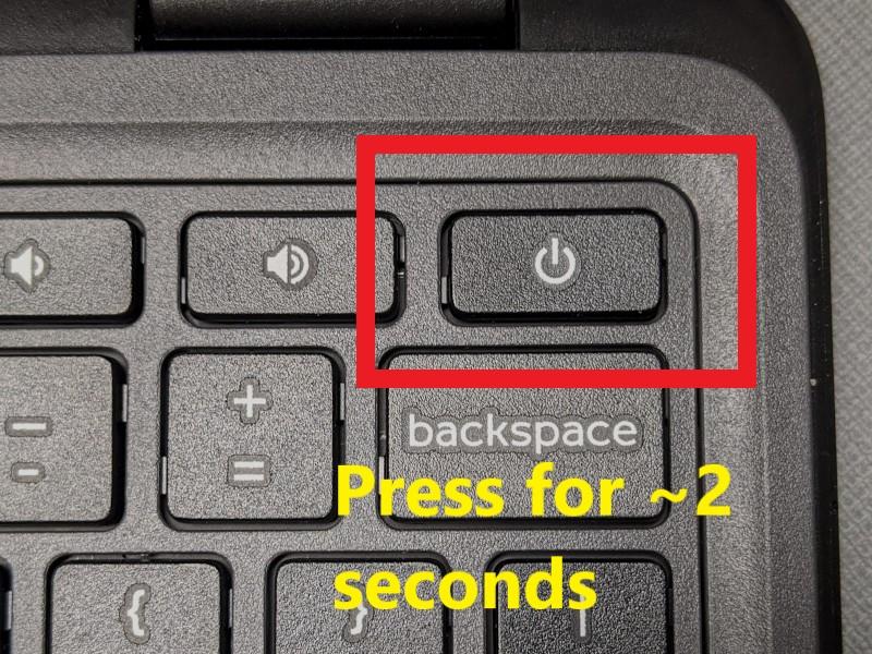 chromebook power button