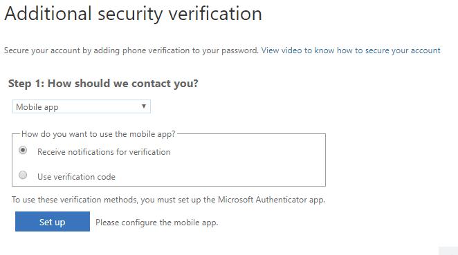 selecting-mobile-app-as-verification-screen