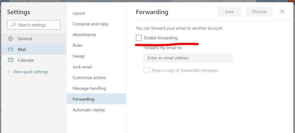 forwarding-settings